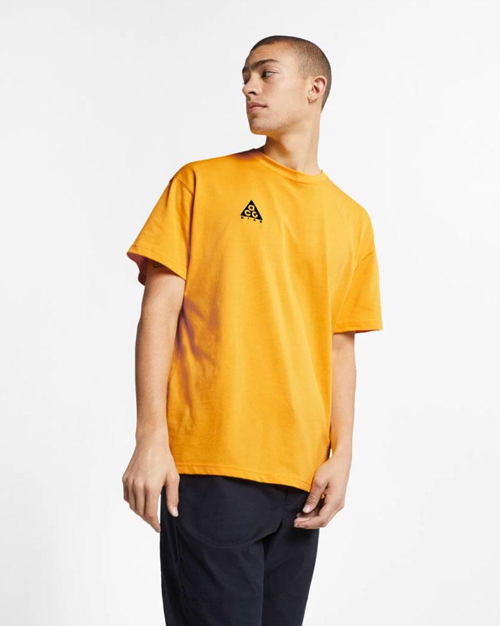 Nike ACG — pánské tričko — žluté — jaro 2019