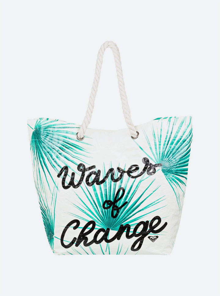 Roxy — Pop Surf 2019 — plážová taška s potiskem — recyklovaná