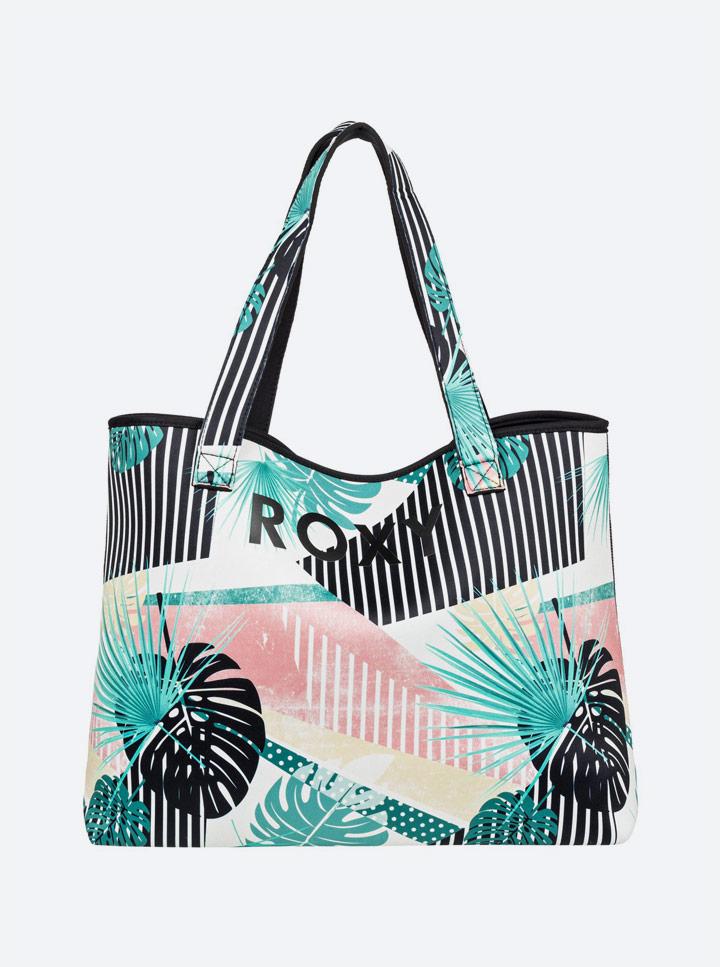 Roxy — Pop Surf 2019 — neoprenová plážová taška — oboustranná — reversibilní — barevná, černá
