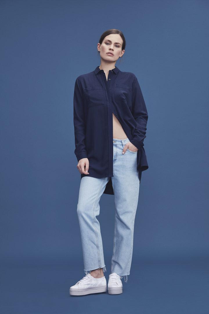 Makia — dlouhá košile — dámská — modrá — jaro/léto 2019
