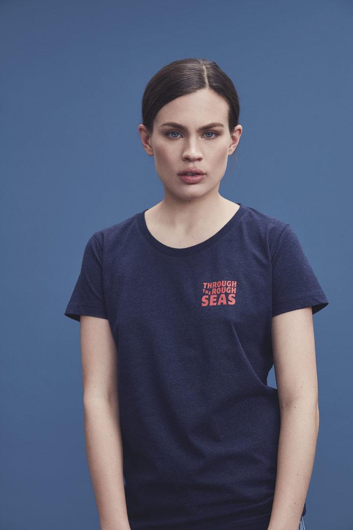 Makia — modré tričko s krátkými rukávy — dámské — jaro/léto 2019