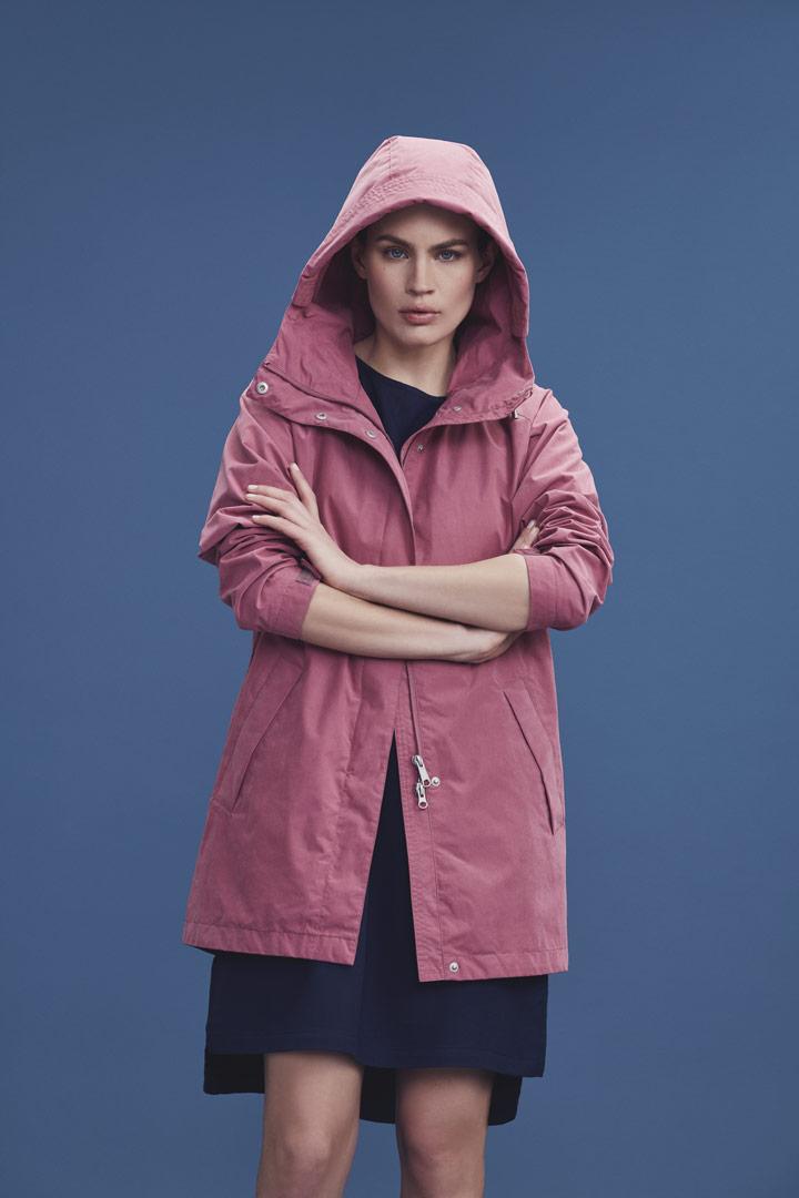 Makia — růžová parka s kapucí — dámská jarní bunda — jaro/léto 2019