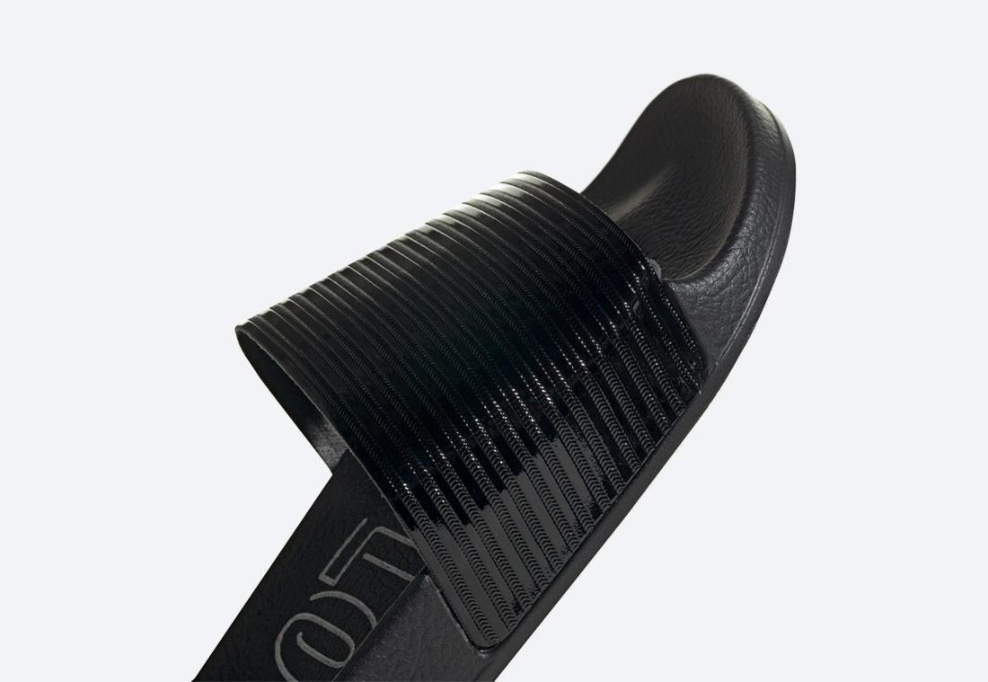 adidas Originals Adilette — dámské pantofle — nazouváky — černé, lesklé