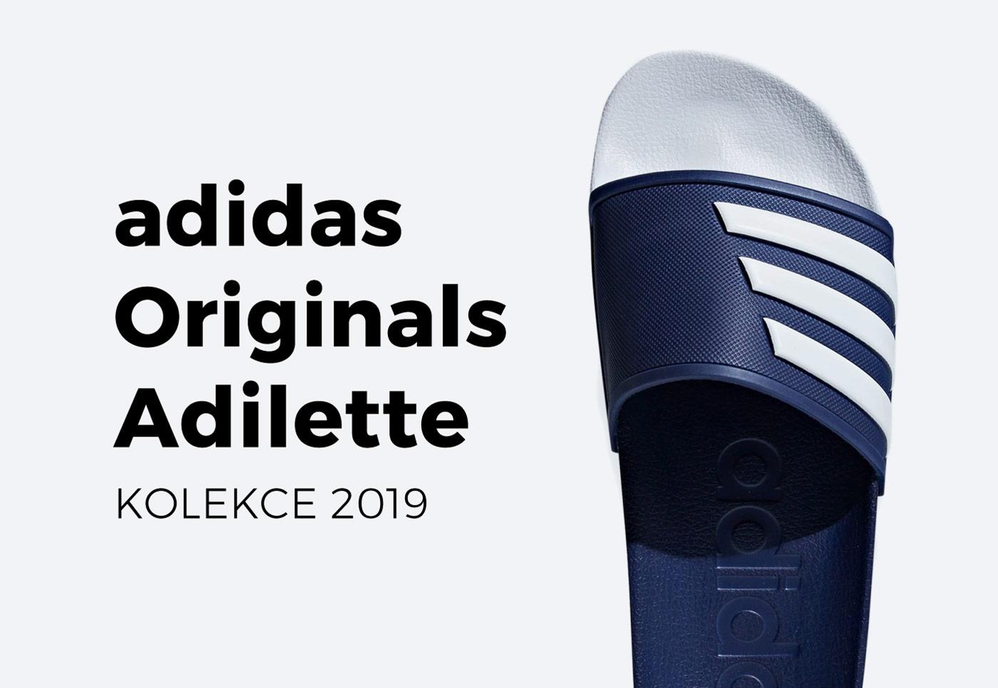 Pantofle adidas Originals Adilette — kolekce 2019
