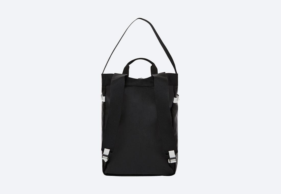 The North Face Base Camp Tote Bag — černo-bílá taška, batoh — zadní pohled