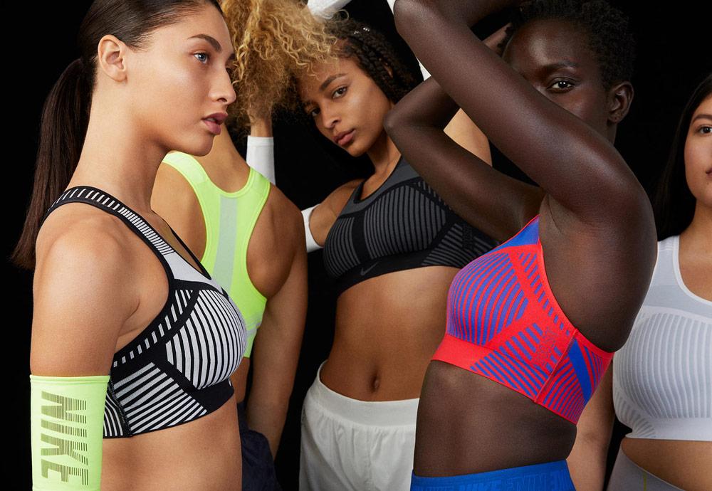 Nike Flyknit Bras — tkané sportovní podprsenky