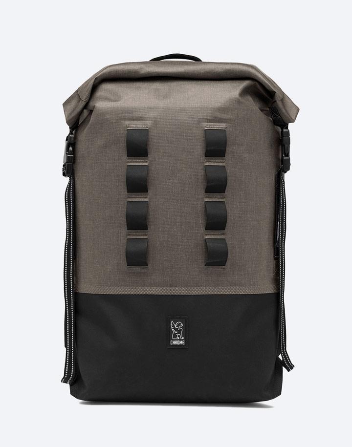 Chrome Industries — městský cyklistický batoh — Urban Ex Rolltop 28l — urban cyclist backpack — hnědý, khaki