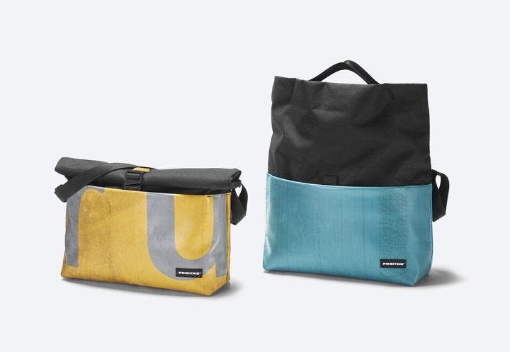 Freitag F640 Rollin — roll-top batoh přes rameno — recyklovaný z plachty a PET lahví — messenger bag — taška — sustainable