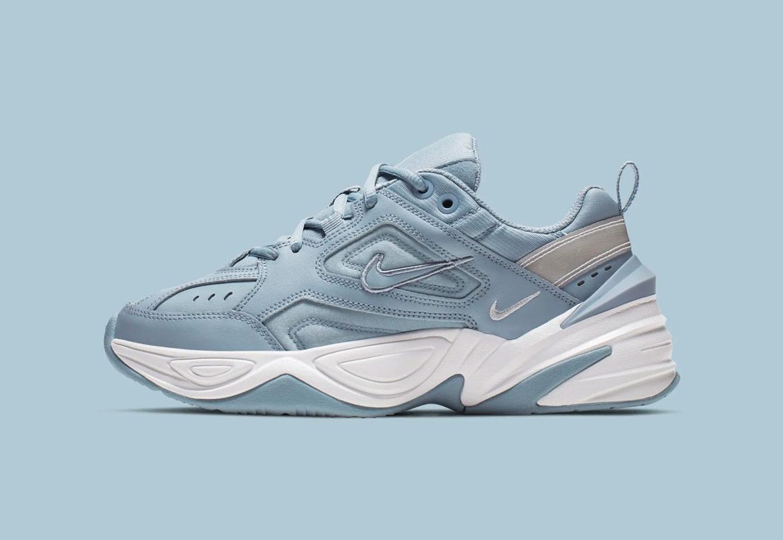 Nike M2K Tekno — dámské boty — tenisky — sneakers — světle modré — light blue — chunky ugly shoes