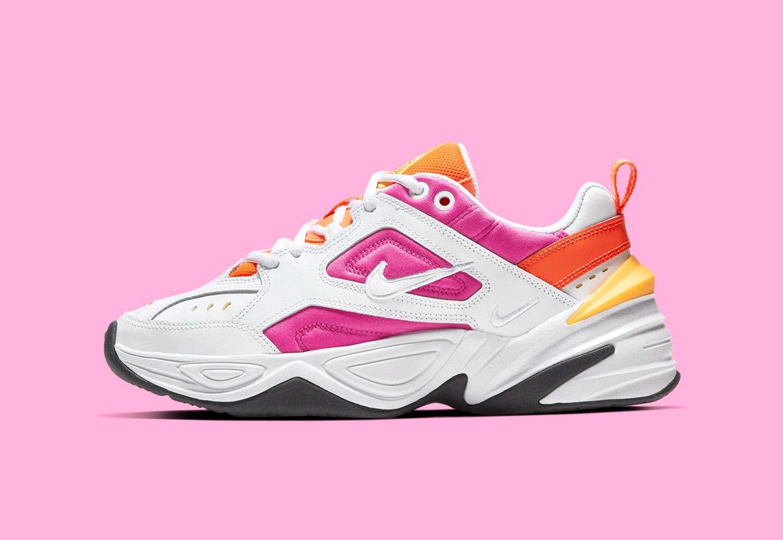 Nike M2K Tekno — dámské boty — tenisky — sneakers — růžovo-bílé — pink, white — chunky ugly shoes