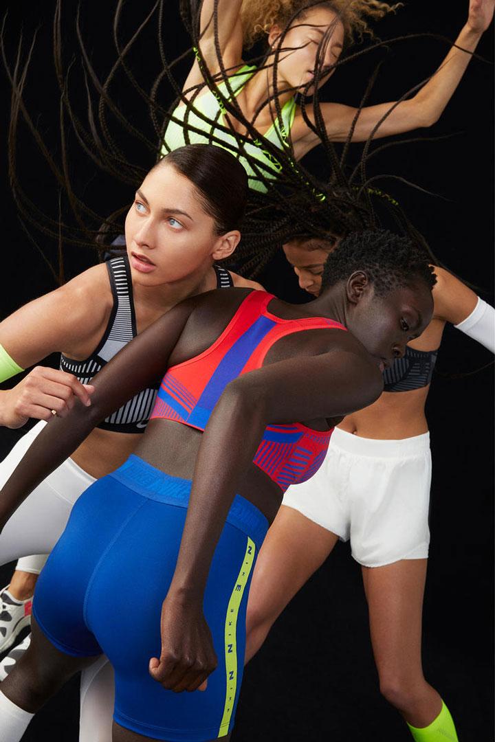 Nike FE/NOM Flyknit Bras — sportovní podprsenky — tkané s vysokou podporou