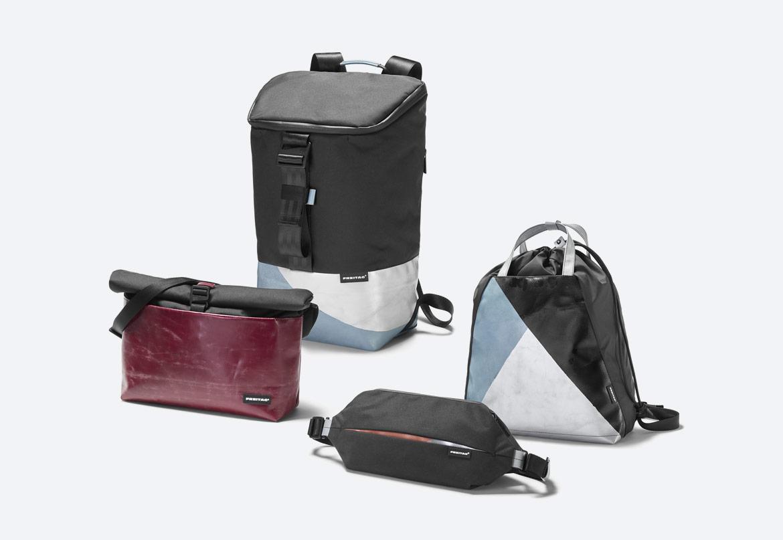 Freitag ToP — batohy, ledvinky, messengery, tašky — recyklované z plachty a PET lahví — sustainable