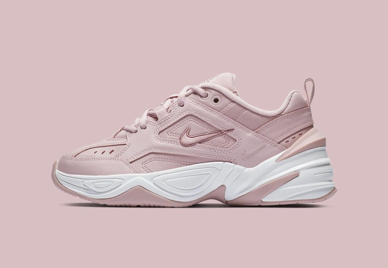 Nike M2K Tekno — dámské boty — tenisky — sneakers — světle růžové — light pink — chunky ugly shoes