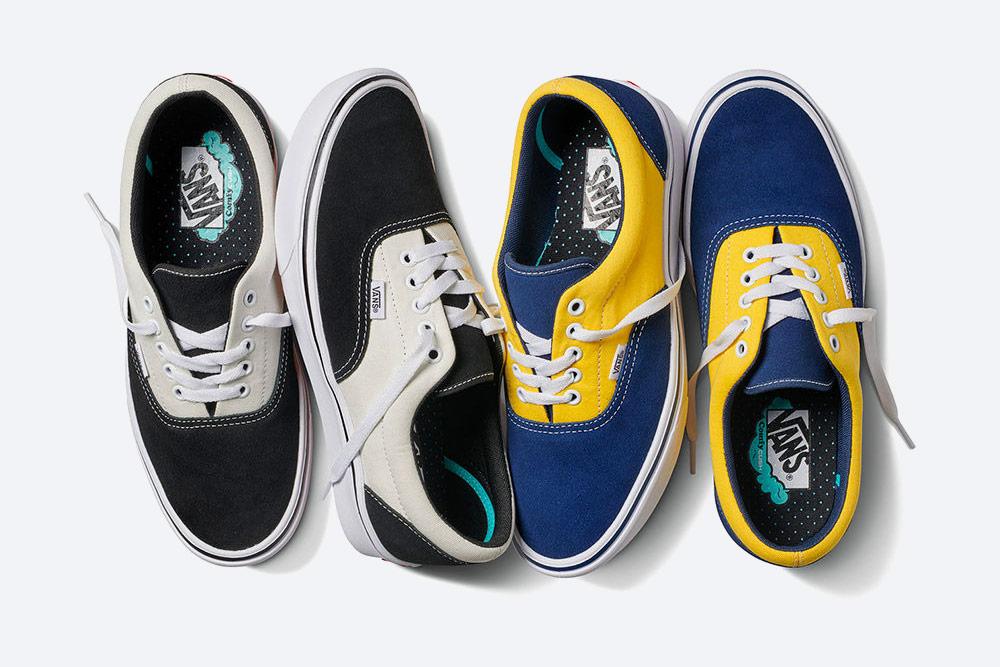 Vans ERA ComfyCush — boty — tenisky — pohodlné Vansky — modro-žluté, černo-šedé