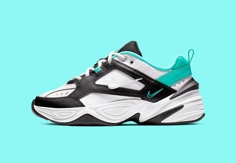 Nike M2K Tekno — dámské boty — tenisky — sneakers — zeleno-černo-bílé — green, black, white — chunky ugly shoes