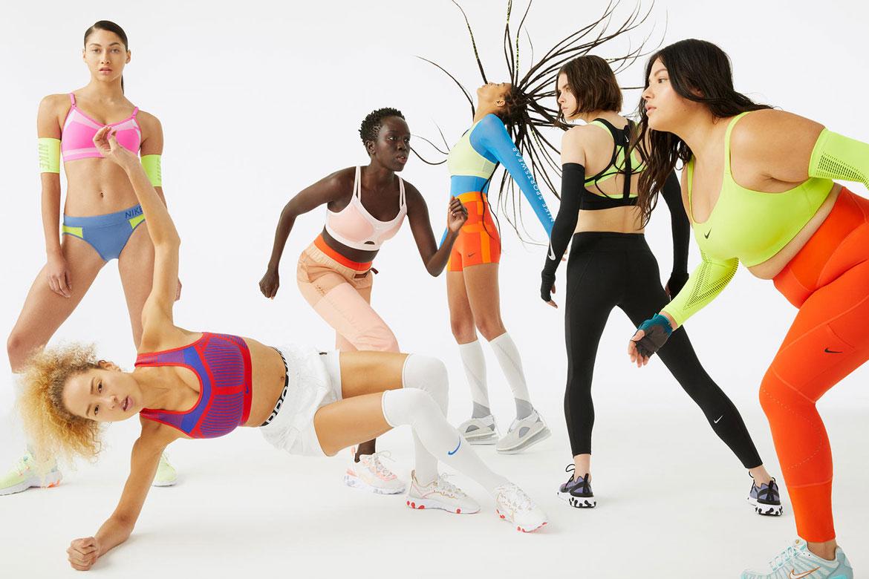 Nike Flyknit Indy Bras — sportovní podprsenky — tkané se střední podporou