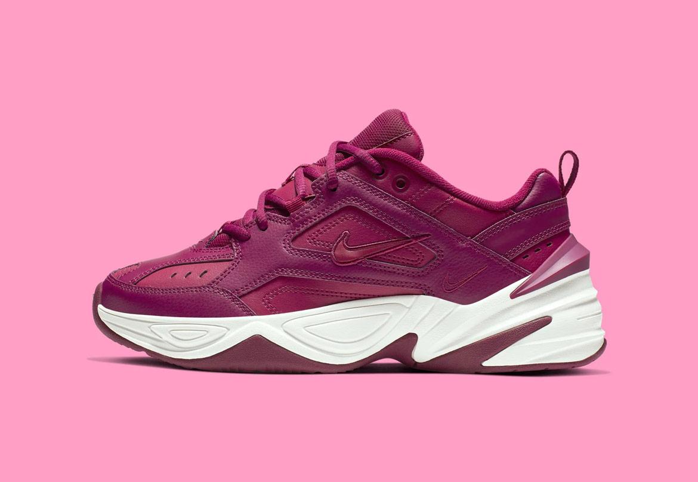 Nike M2K Tekno — dámské boty — tenisky — sneakers — fialové, bordó, vínové — purple — chunky ugly shoes