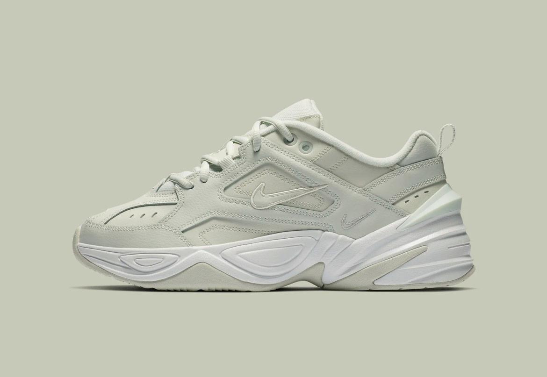 Nike M2K Tekno — dámské boty — tenisky — sneakers — bledě zelené — pale green — chunky ugly shoes