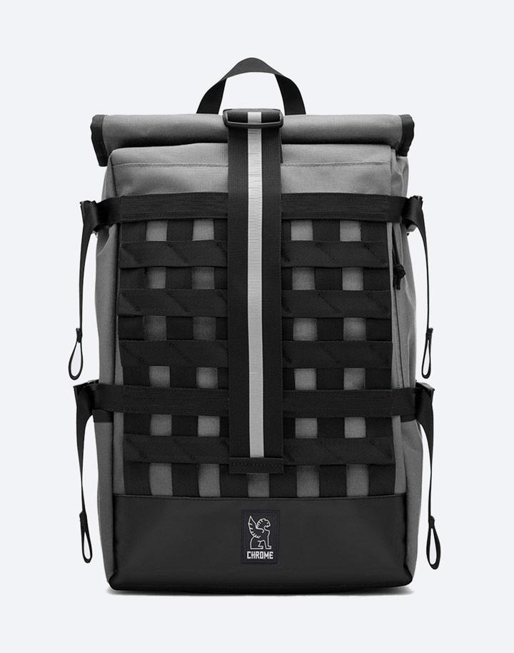 Chrome Industries — městský cyklistický batoh — Barrage Cargo — urban cyclist backpack — šedý
