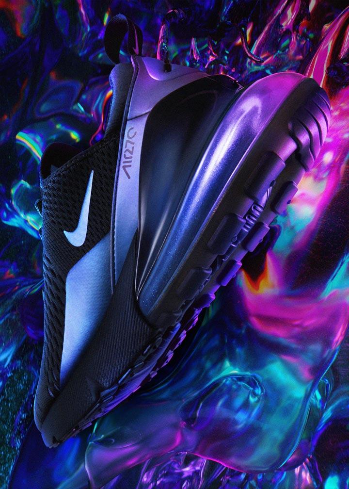 Nike Air Max 270 — duhové boty (iridescent) — dámské, pánské — tenisky — sneakers — Throwback Future Pack