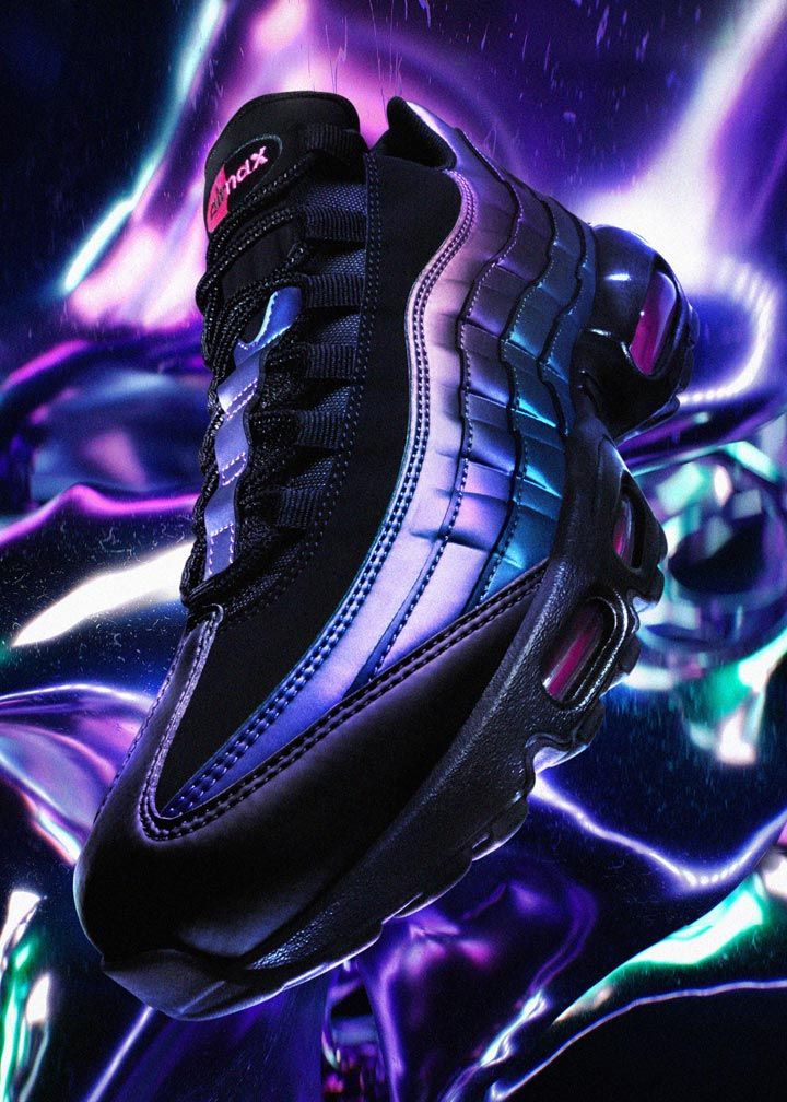Nike Air Max 95 — duhové boty (iridescent) — dámské, pánské — tenisky — sneakers — Throwback Future Pack