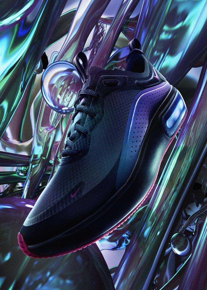 Nike Air Max Dia SE — duhové boty (iridescent) — dámské — tenisky — sneakers — Throwback Future Pack