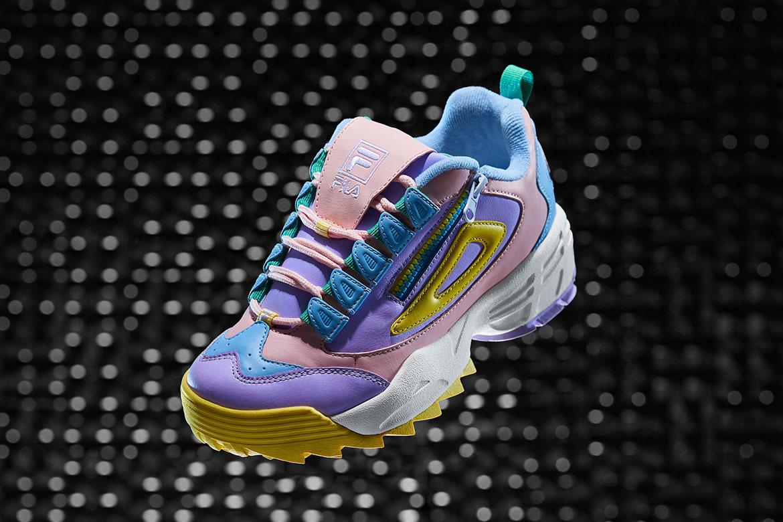 Fila Disruptor 3 — boty — barevné — se zipem — chunky sneakers