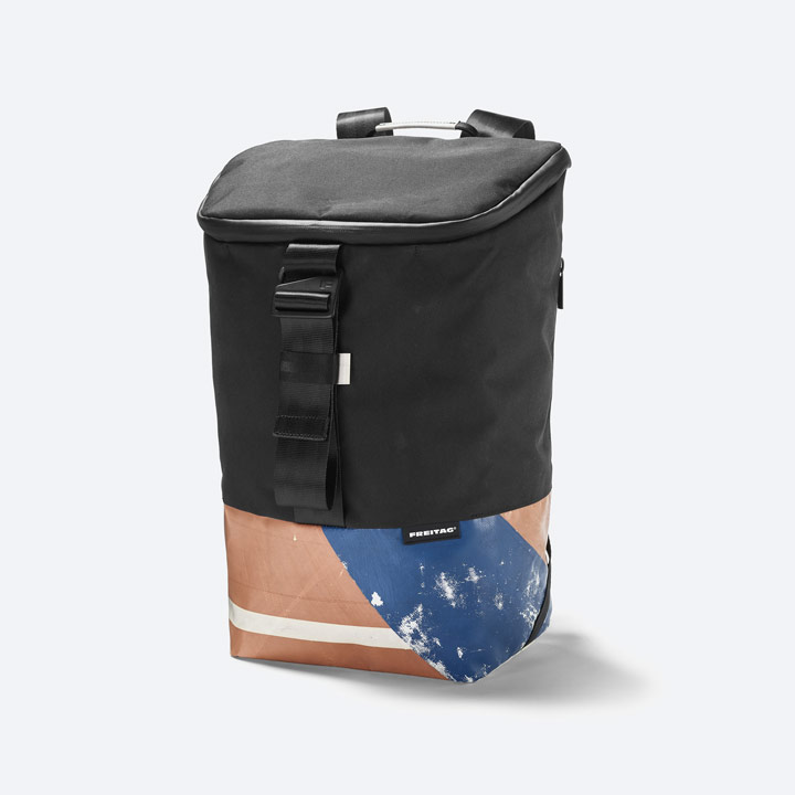 Freitag F600 Carter — batoh recyklovaný z plachty a PET lahví — sustainable recycled backpack