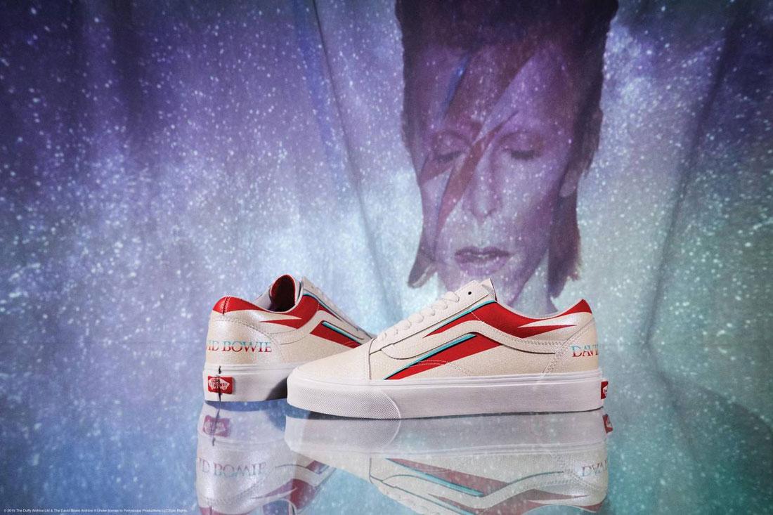 Vans x David Bowie — boty Vans x DB Old Skool — béžové