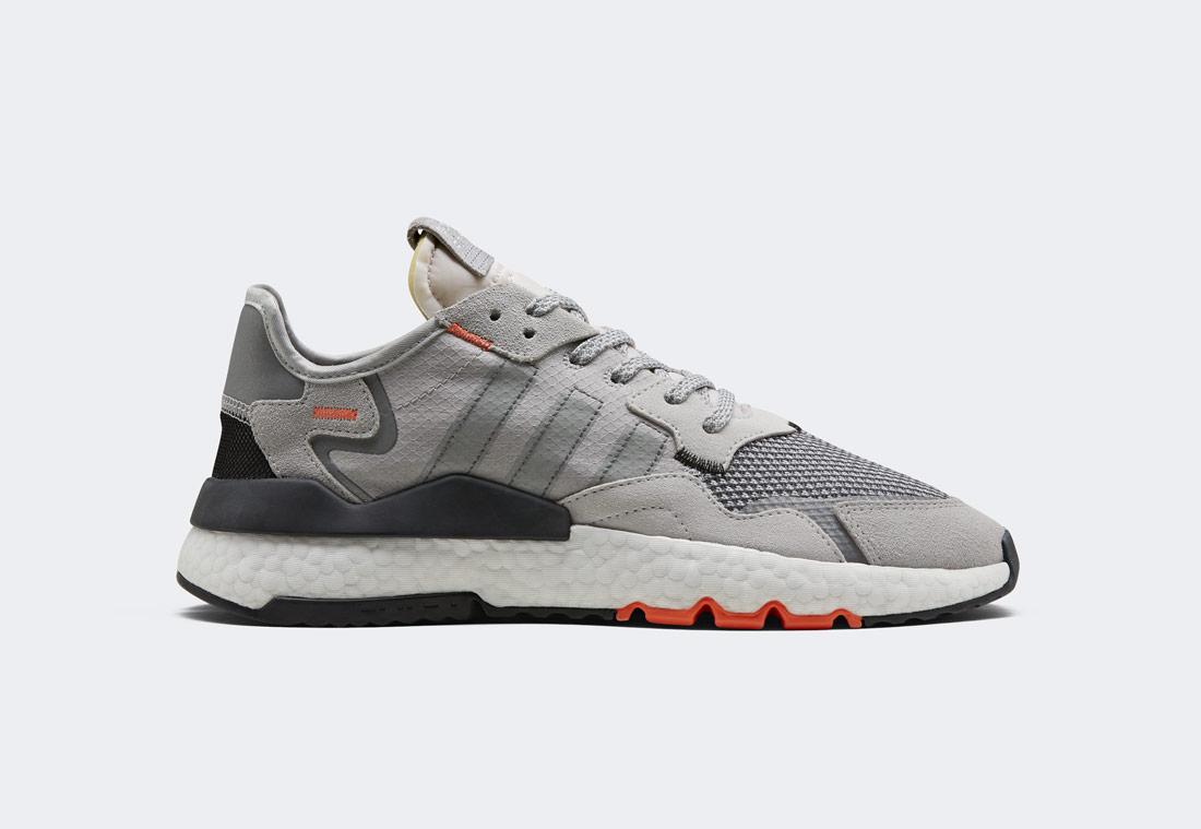 adidas Originals Nite Jogger — boty — šedé, oranžové — reflexní