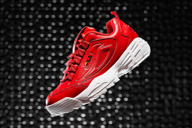 Fila Disruptor 3 — boty — červené — chunky sneakers
