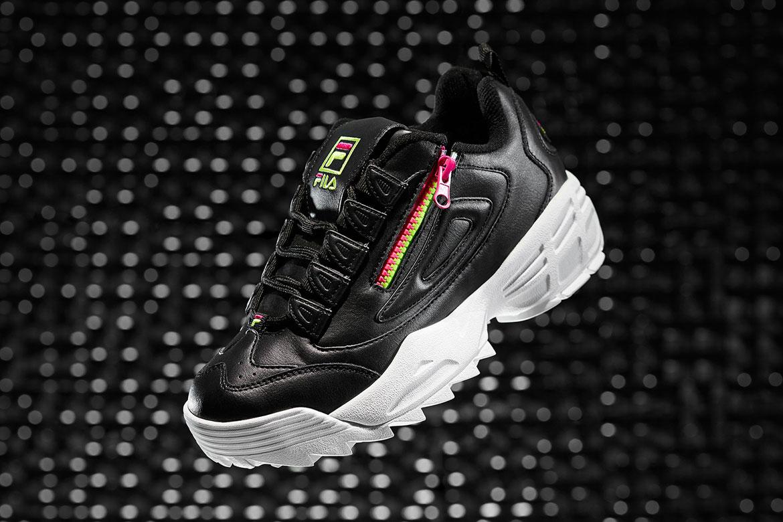 Fila Disruptor 3 — boty — černé — se zipem — chunky sneakers
