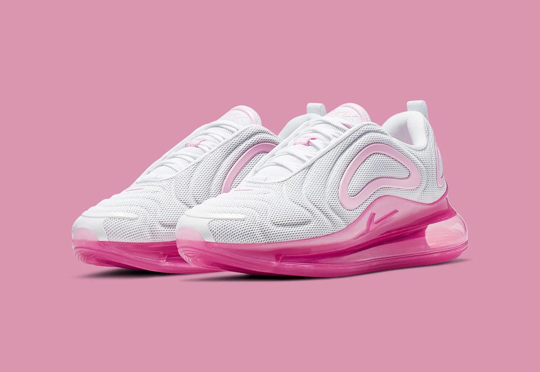 Nike Air Max 720 — boty — růžové, bílé — dámské — sneakers
