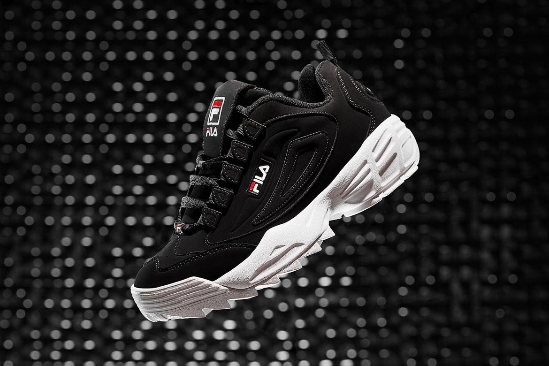 Fila Disruptor 3 — boty — černé — chunky sneakers