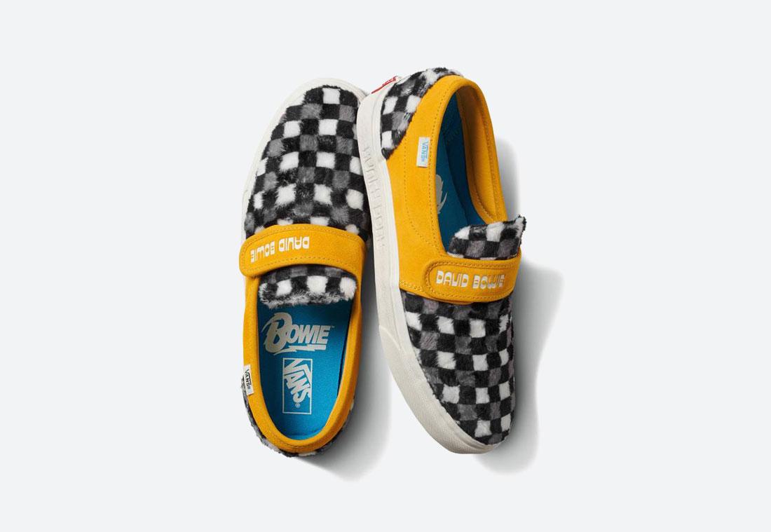 Vans x David Bowie — boty bez tkaniček Vans x DB Slip-On 47 V — chlupaté — s šachovnicovým vzorem