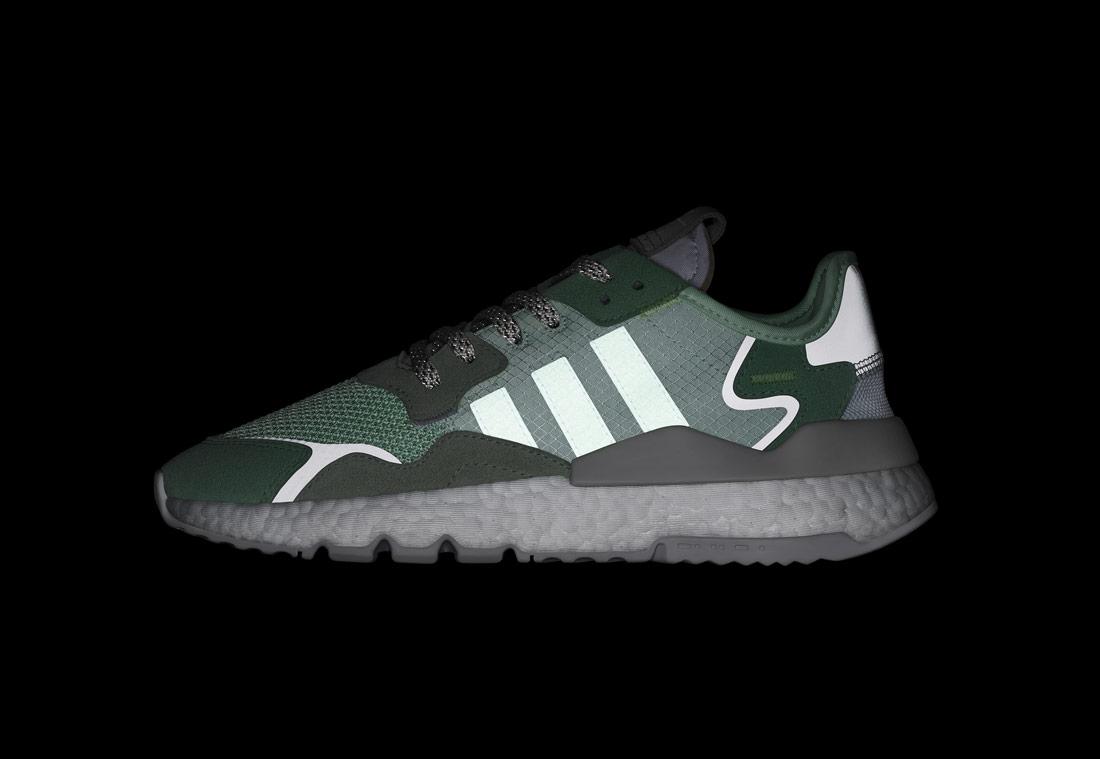adidas Originals Nite Jogger — boty — zelené — reflexní