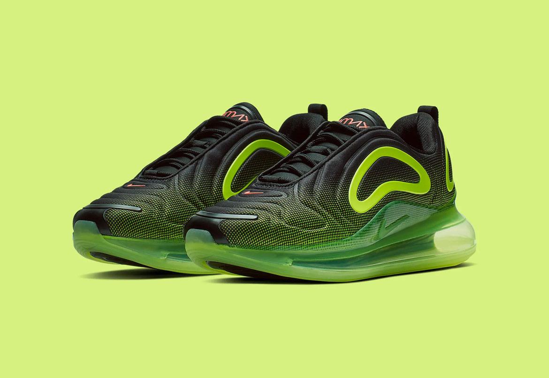 Nike Air Max 720 — boty — žluto-zelené, černé — pánské — sneakers