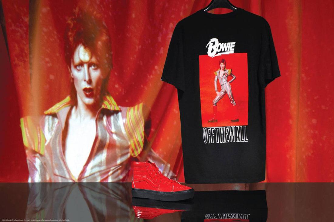 Vans x David Bowie — tričko s potiskem — kotníkové boty