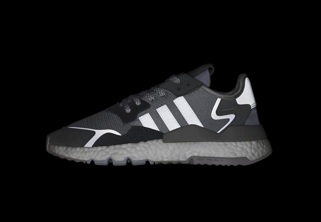adidas Originals Nite Jogger — boty — šedé — reflexní