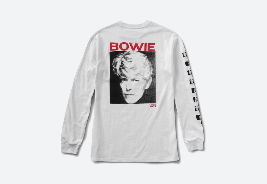 Vans x David Bowie — tričko s dlouhým rukávem — bílé