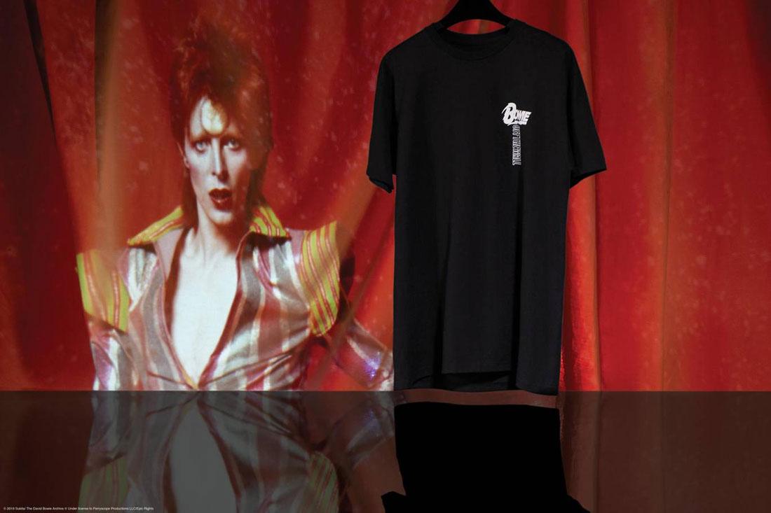 Vans x David Bowie — černé tričko s potiskem