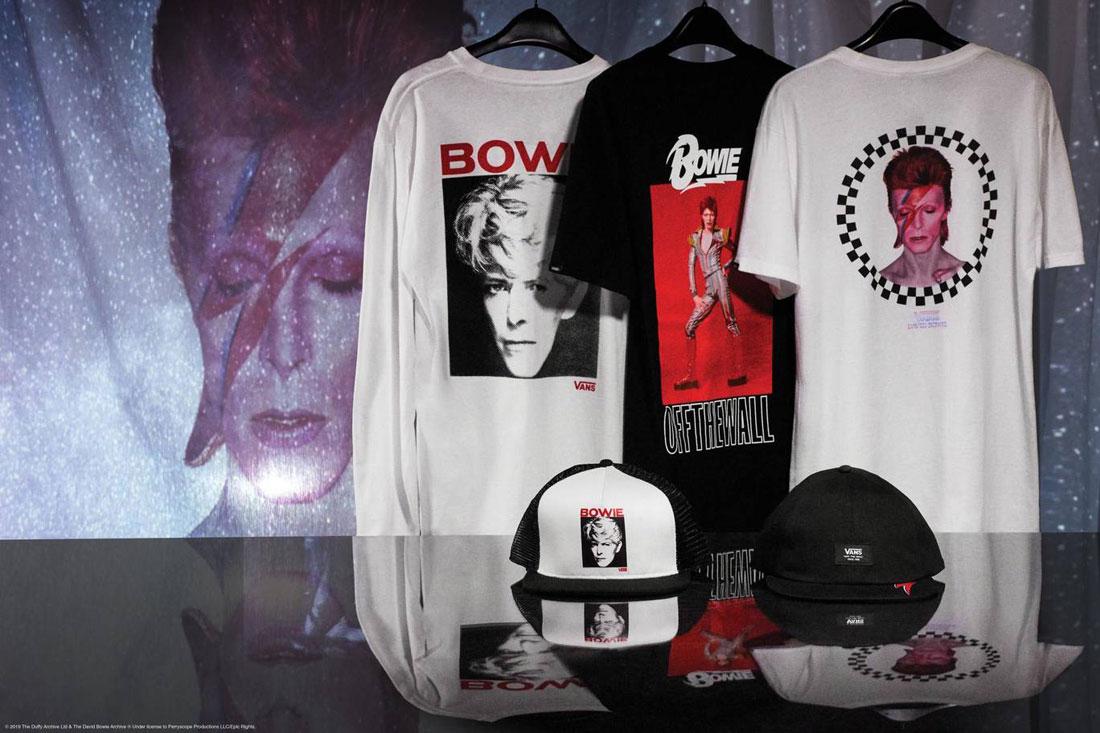 Vans x David Bowie — trička s potiskem — kšiltovky