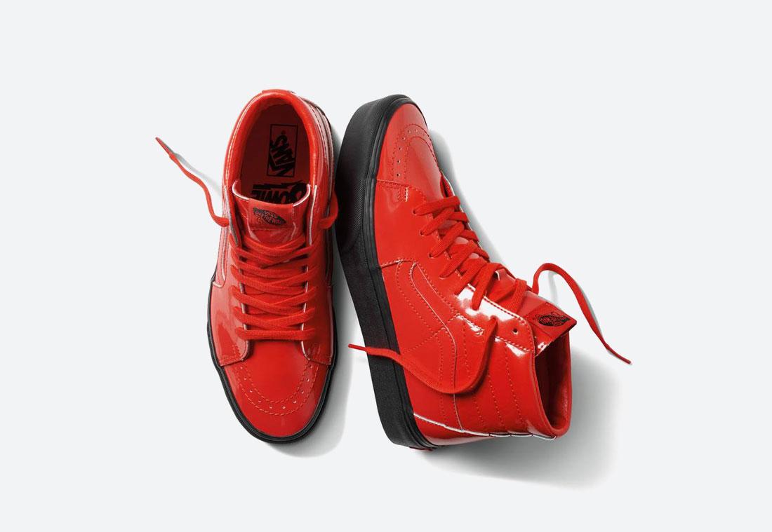 Vans x David Bowie — kotníkové boty Vans x DB Sk8-Hi Platform 2.0 — červené