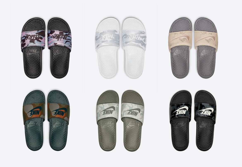Maskáčové pantofle Nike Benassi
