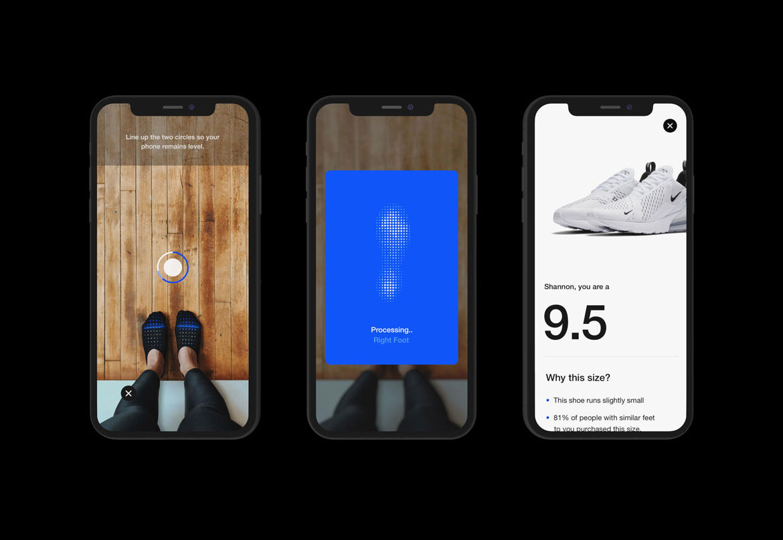 Nike Fit — chytrá funkce pro výběr velikosti bot