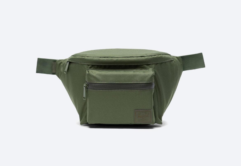 Ledvinka — Herschel Supply Seventeen Light — zelená (army green) — pánská, dámská