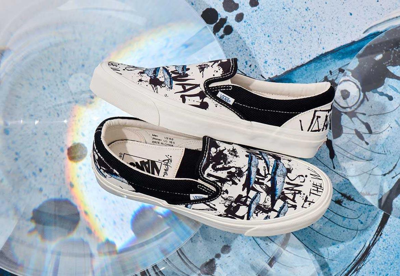 Vans x Ralph Steadman — Slip-On — letní boty s potiskem bez tkaniček s ilustrací tuňáka obecného