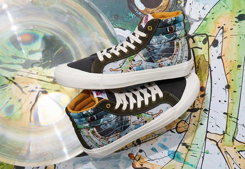 Vans x Ralph Steadman — Sk8-Hi — kotníkové boty s ilustrací listovnice přízračné