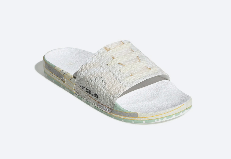 adidas Originals Raf Simons Peach — pantofle — pánské — barevné s potiskem