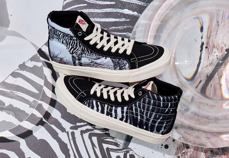 Vans x Ralph Steadman — Sk8-Hi — kotníkové boty s ilustrací zebry grévyho